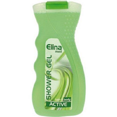 Dusch Gel Elina Hair & Body Unisex Active für Haut und Haare, 6er Pack (6 x 300 ml)