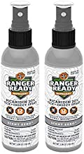 Ranger Ready Insect Repellent with 20% Picaridin Mist Spray Bottle, Scent Zero, 3.4 Ounce, Pack of 2
