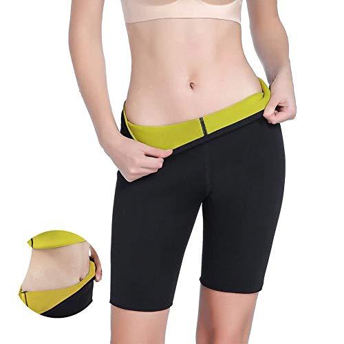 MQSS Saunaanzüge Damen zum abnehmen, schwitzhose Frauen neopren Sporthose, hilft überschüssiges Wasser abzubauen, für eine straffere Haut und schlankere Silhouette4XL