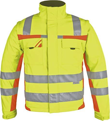 PKA Winter-Warnschutz Softshell-Jacke gelb/orange