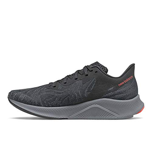 New Balance Men's FuelCell Prism V1 Running Shoe, Black/Lead, 7 W US
