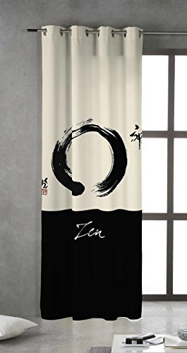 Tsuki Zen gordijn met metalen ogen, 150 x 260 cm