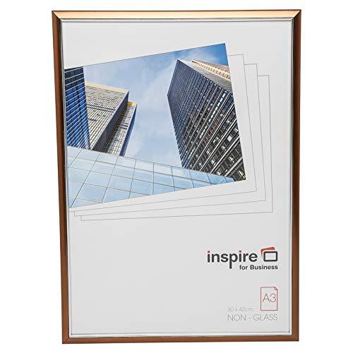 Hampton Frames EasyLoader Cobre a3 30x42 cm Certificado Foto Marco de Seguridad plexi Vidrio Abertura de la Imagen de Apertura easa3cpp