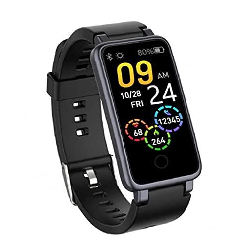 Obelunrp Smart Watch 1.14 Pulgadas Impermeable One Button Pulsera Fitness Paso Contador Reloj Negro Smart Bracelets