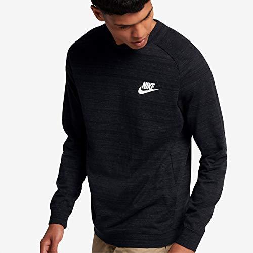 Nike Sportswear Advance 15 Crew, Long Sleeve Top Uomo, Nero (Black/Htr/White), XL