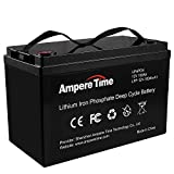 LiFePO4 Deep Cycle Battery 12V 100Ah with Built-in BMS, Perfect for Replace Most of Backup Power and Off Grid Applications, Provide 5 Years Warranty