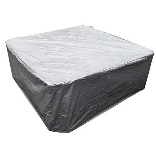 Cubierta impermeable para muebles a prueba de polvo yexterior para exterioressepuedeutilizar para varios tamaños de bañera de hidromasaje cubierta de protección de hojas caídas cubierta de mesa ysilla