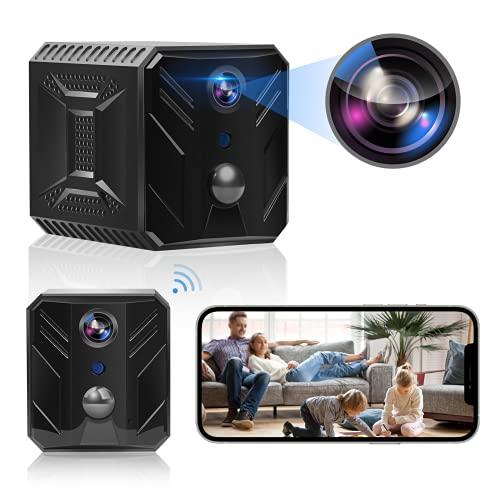 Mini Kamera, Aunus 1980x1080P WiFi Mini Überwachungskamera Innen mit APP,Sicherheitskamera für Innen Aussen mit Bewegungserfassung und Infrarot Nachtsicht