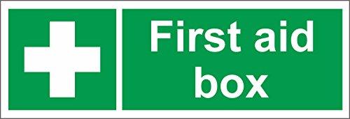 INDIGOS UG - Aufkleber - Sicherheit - Warnung - First aid Zeichens First aid box safety Zeichen - 150mm x50mm