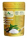 Golden Stevia 100% polvo puro 500g = 6kg de reemplazo de azúcar 1:12, sabe a azúcar natural, baja en calorías, dieta cetogénica, adelgazante, diabéticos, sin gluten, vegano, para cocinar y hornear
