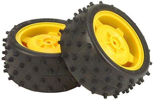 TAMIYA 309400239 - Buggy-Reifen/Felgen 5-Star 80/32(2) hinten, gelb