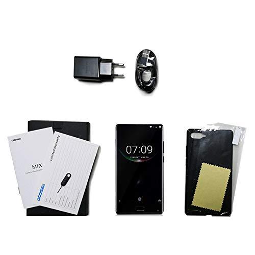 BlakeSha36 DOOGEE Mix Dual Camera 5.5 Pulgadas sin Marco 4G Smartphone para Android 7.0 EU Plug Negro