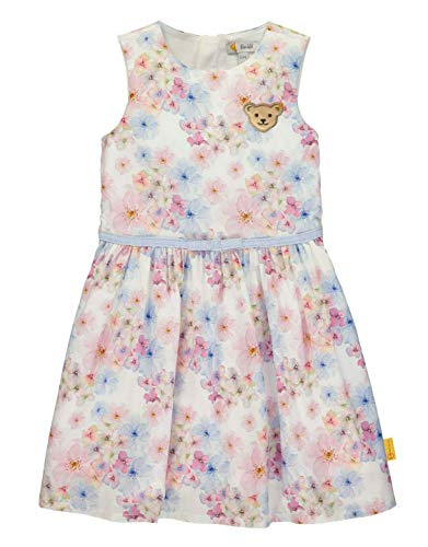 Steiff Mädchen Kleid, Weiß (Bright White 1000), (Herstellergröße: 104)