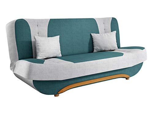 Mirjan24 Sofa Pinto mit Bettkasten und Schlaffunktion, Schlafsofa, Farb- und Materialauswahl, Wohnlandschaft, Couch vom Hersteller, Schlafcouch (Enzo 155 + Enzo 162)