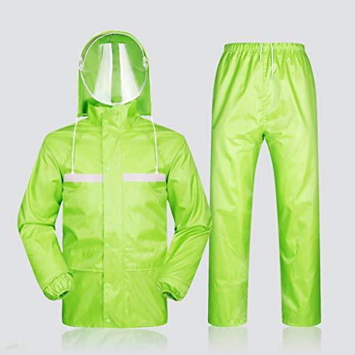 Regenanzug mit Kapuze Regenbekleidung Regenjacke Schutzanzüge Arbeitskleidung Foul Weather Gear, Ideal zum Wandern, Wandern, Radfahren, Golf, Reisen, etc. 2-teilige Ultra-Lite-Anzüge