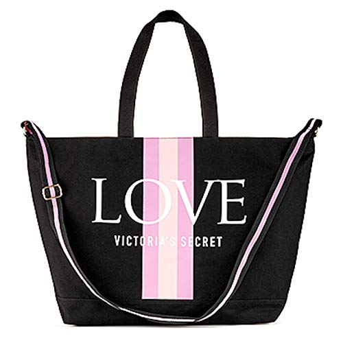 Victoria's Secret Love Weekender Tote Bag Summer 2019 Multi Color NWT, Black, Large