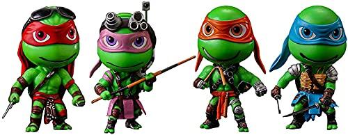 LUSTAR Tortugas Ninja Juegos de 4 Versión Q Teenage Mutant Ninja Turtles Figura de Acción Personaje de Anime, para Fanáticos del Juego Chico Adulto 12cm