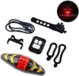 DFKDGL Rechargeable Bike Tail Light LED Bike Rear Turn Signal Lights with Wireless Remote Control Multifunctional Modes Waterproof Cyclin Bicycle Accessories