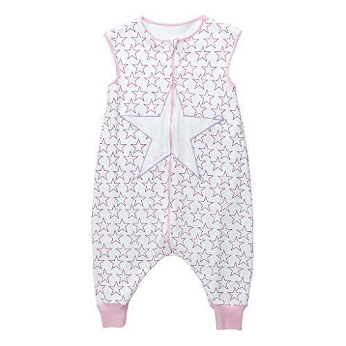 Sacos de Dormir para niños 1.5 Tog con Piernas Cremallera Frontal 3-5 Años