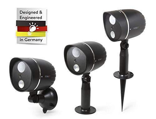 Technaxx Cámara De Vigilancia Exterior Landscape Security Fabricada Impermeable Equipada con Iluminación LED y Sensor De Infrarrojos Pasivo TX-106