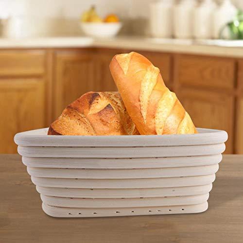 Broodmandjes Gladde driehoekige rotan schaal voor stokbrood(16X16X6CM)