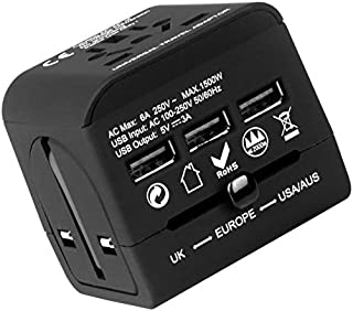 Travel Adapter ,Universal Travel Adapter,All in one Travel Adapter buy two one for a friend and free. That's Built For The World,INTERNATIONAL Adapter,what a great Gift for travelers ,covers all countries ,Europe /America/Australia/UK