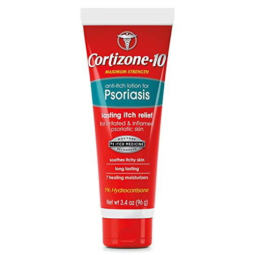 Cortizone 10 Anti-Itch Lotion for Psoriasis 3.4 oz., Maximum Strength 1% Hydrocortisone