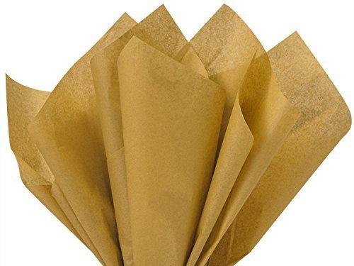 Antique Gold Tissue Paper 15 Inch X 20 Inch - 100 Sheet Pack by Premium Tissue Paper