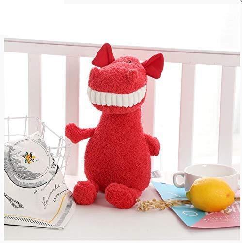 Schattige grote tand dier knuffel kinderspel pop vakantie speelgoed 28cm kleine rode draak