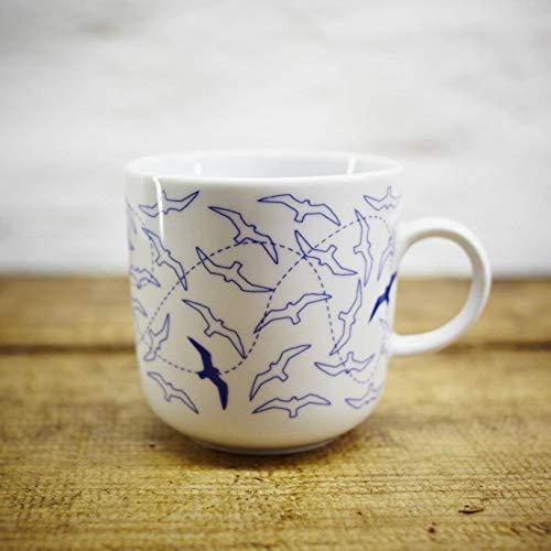 Kaffeebecher - 100% Handmade von Ahoi Marie - Motiv Möwen - Maritime Porzellan-Tasse original aus dem Norden