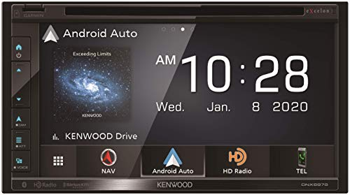 """Kenwood Excelon DNX697S 6.8"""" Clear Resistive Touch Panel Navigation DVD Receiver with Bluetooth & HD Radio 