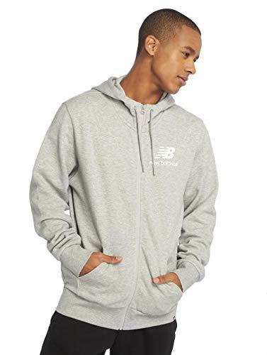 New Balance Zipper Herren Essentials Brushed Scuba Jacket Grau, Größe:L
