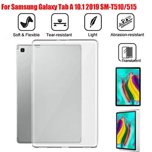 Beschermhoes voor tablet-hoezen voor Samsung Galaxy Tab S5e T720 T725 / Tab A SM-T510 / 515 Tab One P205 / P200 TPU gel siliconenhoes A30 10,1 inch T510 T515