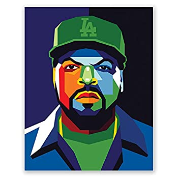Ice Cube Poster - Geometric Portrait - Rapper Bedroom Wall Decor - Gift for Friend  11x14