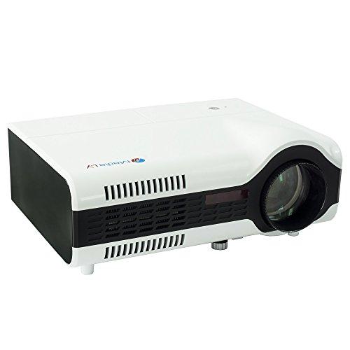 MediaLy LED Beamer G150X - hochwertiger Heimkino Projektor mit 800x600 Pixel Native Auflösung HDMI Auflösung bis 1024x768 Pixel 1800 ANSI-Lumen und HDMI USB VGA Anschluss