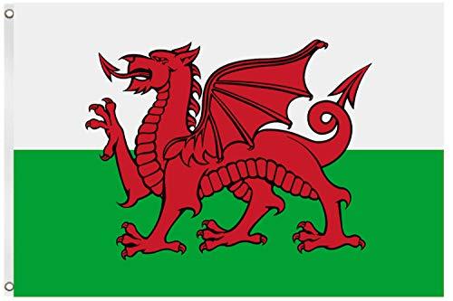Blackshirt Company Wales Fahne Walisische National Länder Flagge mit Ösen 150 x 90 cm Farbe Mehrfarbig