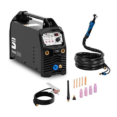 Stamos Power2 Soldador MMA Equipo Para Soldar S-ARC 200 (TIG AC/DC, MMA AC/DC, 200 A / 230 V, LED/IGBT, Función pulso / 2/4 tiempos)
