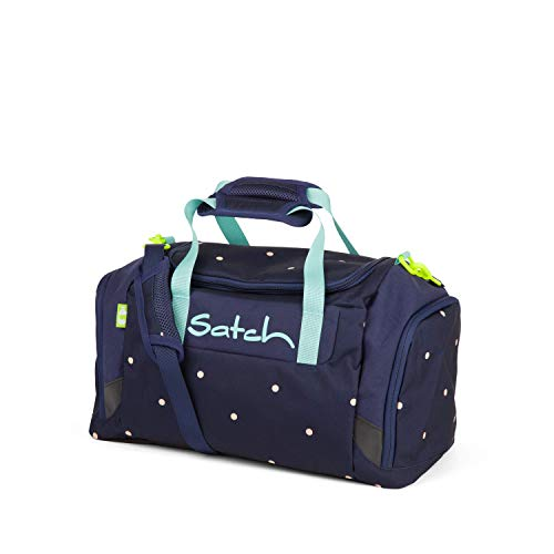 Satch Sporttasche Pretty Confetti, 25l, Schuhfach, gepolsterte Schultergurte, Blau
