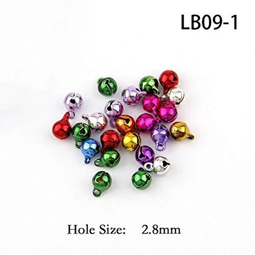 6-20mm Mix kleur koper vacuüm Jingle Bells hanger kerst handgemaakte partij DIY ambachten accessoires, 6mm 30st