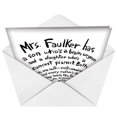 7173 Mother Faulker Naughty Humor Mother's Day Greeting Card with Envelope Photo #4