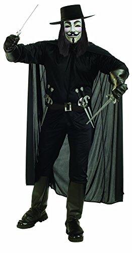 V For Vendetta Adult Costume - X-Large