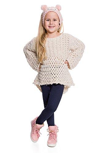 hi!mom - Kinder Winterleggings - aus Baumwolle - lang - Thermomaterial - für jedes Alter - CHILD28 - Dunkelblau - 6-7 Jahre