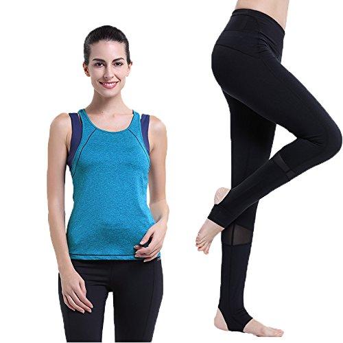 Qsheulx zomer-yoga-jurk, twee dames, sportjack, nauwe broek, joggingpak, S, malachietgroen, zwarte voet