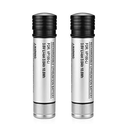 ANTRobut 2Pack 3.0Ah Li-ion Battery Replacement for Black and Decker 3.6 Volt battery Versapak VP100 VP100C VP105 VP105C VP110 VP110C VP143