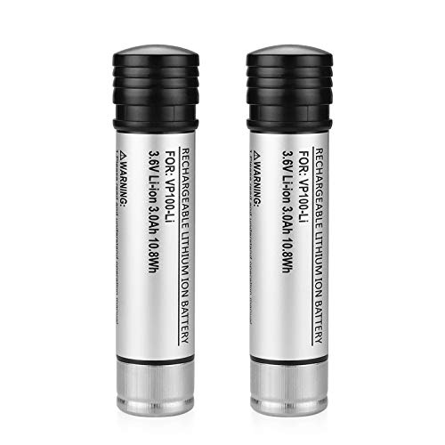 ANTRobut 2Pack 3.0Ah Li-ion Battery Replacement for Black and Decker 3.6 Volt battery Versapak VP100 VP100C VP105 VP105C VP110 VP110C VP143