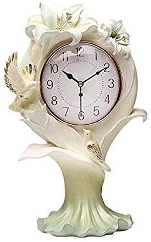 JYHZ Reloj despertador,Adornos verticales del reloj de pared,Mesita de noche verde adornos creativos reloj reloj de escritorio,Reloj de sala de estar