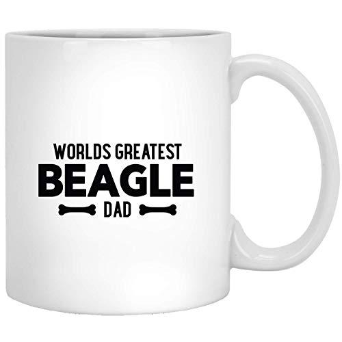 Het beste grappige cadeau-idee voor hondenpapa van Hase ter wereld voor de witte mok van de hondenliefhebber