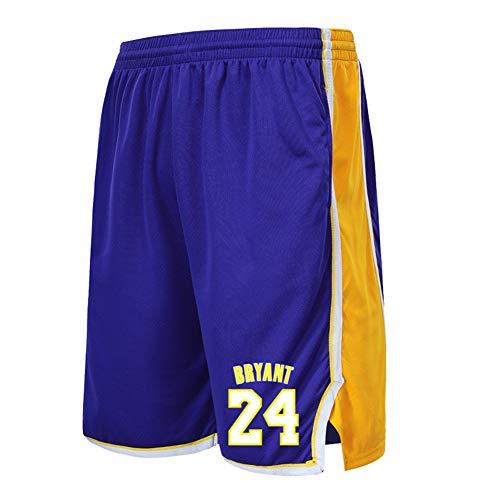 MiSide Basket Pantaloncini, NBA Lakers 23# Lebron James 24# Kobe Bryant, Basket Pantaloncini Sportivi,Blue-24,L-160-165cm