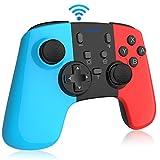 「最新Switch配色」Switch コントローラー RegeMoudal スイッチ コントローラー 無線 ワイヤレス Bluetooth 接続 TURBO連射機能付き HD振動 6軸ジャイロセンサー搭載 日本語取扱説明書