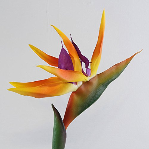 ypypiaol Neueste Künstliche Blumen Künstliche Pflanze Blume Paradiesvogel Gefälschte Pflanzen Silk Strelitzia Reginae Wohnkultur Orange